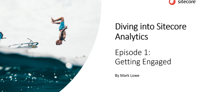"Video series ""Diving into Sitecore Analytics"" launched"